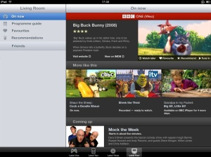 Screenshot of an iPad second screen demo using the resolver service to get more information about a broadcast